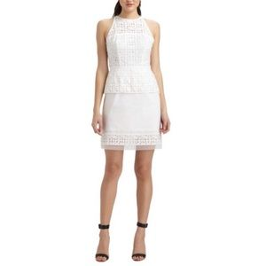 Milly Laser Cut Peplum Dress